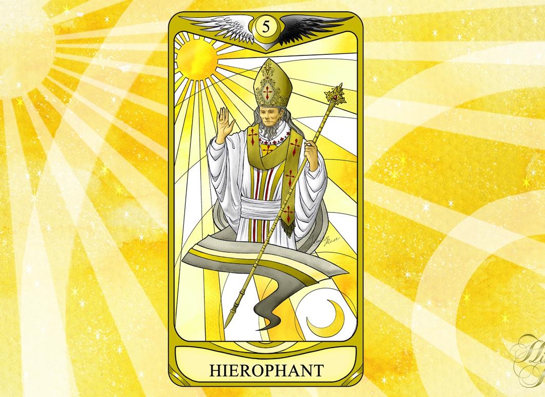 ひみこローズのThe Mirror タロットおそうじ~お部屋はあなたの心の鏡 PART.6「HIEROPHANT 教皇」