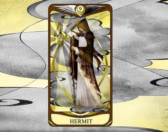 ひみこローズのThe Mirror タロットおそうじ~お部屋はあなたの心の鏡  PART.10「HERMIT 隠者」