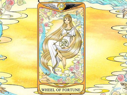ひみこローズのThe Mirror タロットおそうじ~お部屋はあなたの心の鏡  PART.11「WHEEL OF FORTUNE 運命の輪」