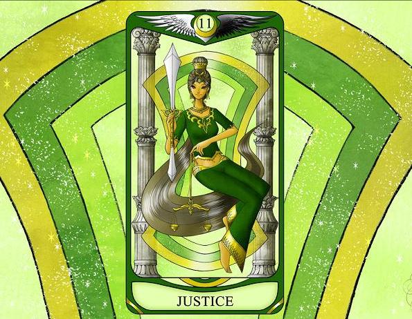 ひみこローズのThe Mirror タロットおそうじ~お部屋はあなたの心の鏡  PART.11「JUSTICE 正義」
