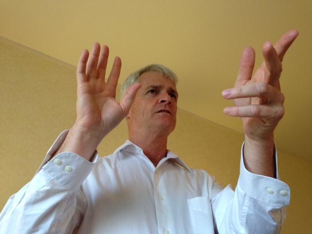 頭ではわかるつもりのハラ(丹田など)を初めて体感! ATPコーチングの指導者、マイケル・フレミングさんセッション PART.1