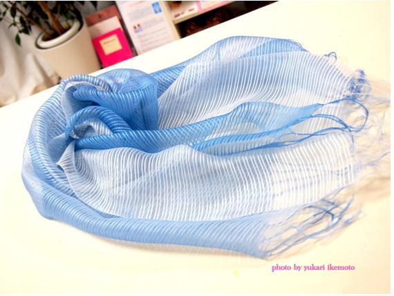 これを着れば誰もがパワーアップできる!!! PART.32ブルー&ホワイト・ストライプスカーフ