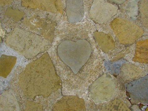 グラバー邸のハートの石