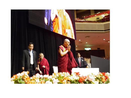 私たち自身が私たち自身のマスターである。ダライ・ラマ法王講演レポート