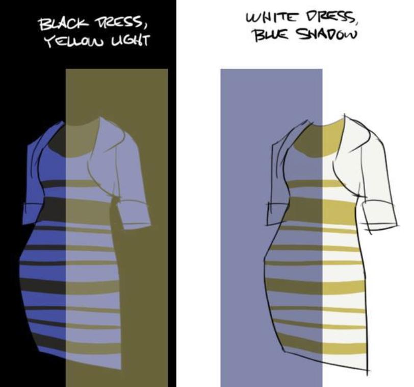 今ネットで話題沸騰中! このドレス、「白と金」「青と黒
