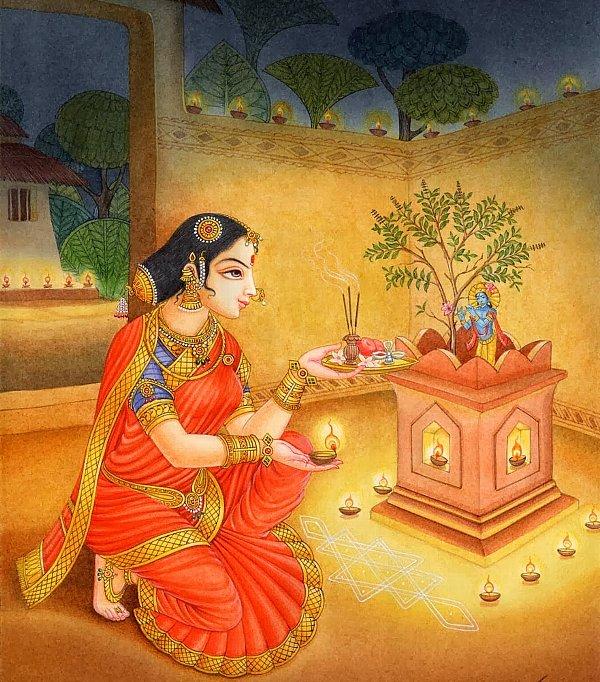 インド神話に登場するトゥルシ