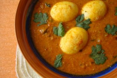 インドの卵カレー