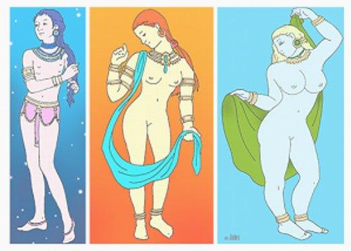 ヴァータ、ピッタ、カファ体質のそれぞれの体型