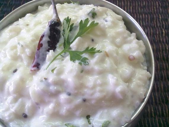 ダヒライス(インドのヨーグルトご飯)
