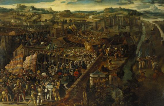 【「イタリア戦争・パヴィアの戦い」作者不詳 バーミンガム美術館】