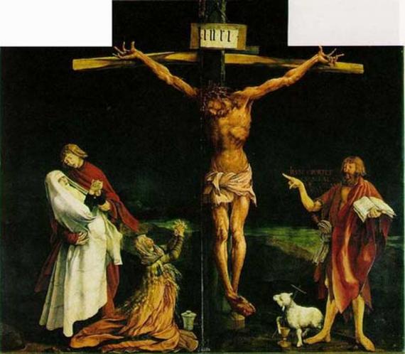 【イーゼンハイム祭壇画「十字架のキリスト」イタリア】