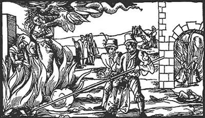 【ヨーロッパでの魔女の処刑を表す木版画・16世紀】