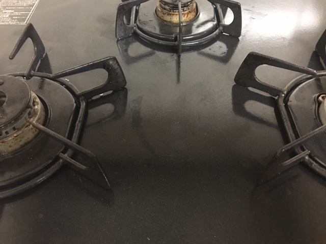 やってみた〜! コンロの掃除。ギトギトのキッチンが米ヌカの力でピッカピカに!! 全部写真で見せます。楽しい掃除❤
