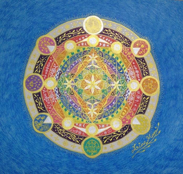「幸せの宿る木」も展示〜大天使ラジエルから勧められたハッピー神聖幾何学アート